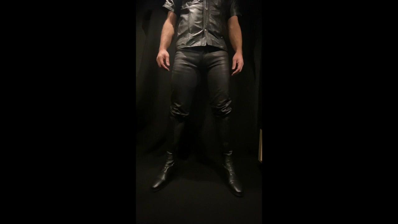 Leather GOD Fag Boot Worship POV