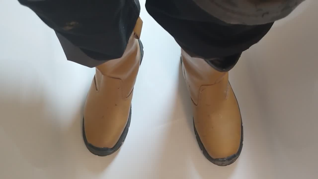 Pissing on my boots