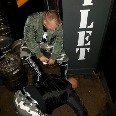 Fag under my boots in Manchester