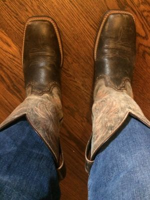 These boots could use a spit shine.