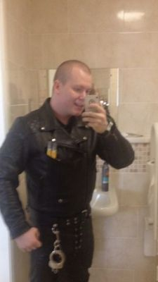 in my leathers