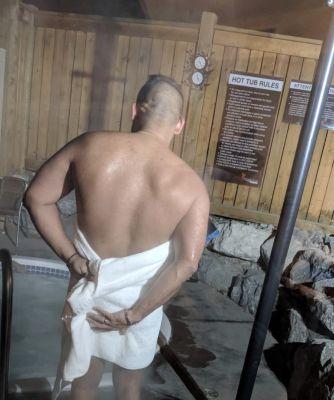 who wants to be Master's towel? #hotbathtubday