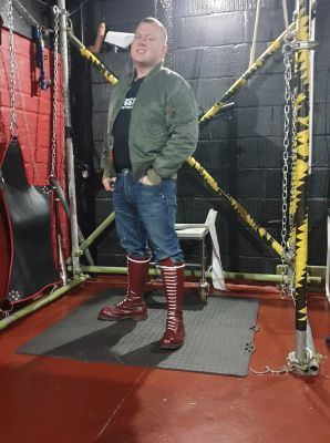 booted skin master in the dungeon