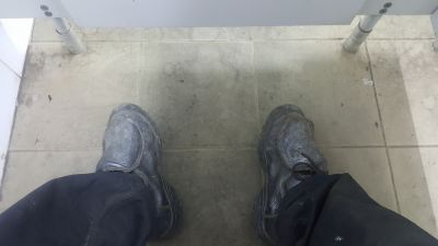 work boots need cleaning