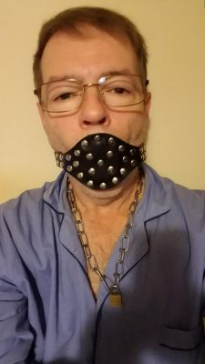 Gagged to remind me to speak respectfully to all Alpha Men