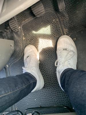 dirty van floor . need it cleaned fags