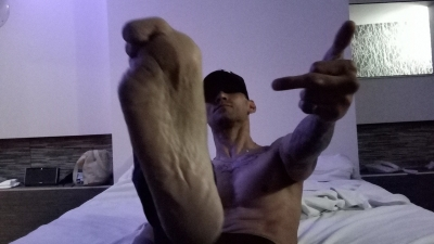 on your face on your throat and inyour fucking mouth you faggit slave worship my alpha male feet raw no feminine pedicure bull shit. come worship a real mans feet.