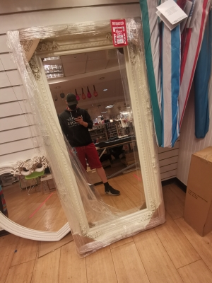 Huge ass mirror wouldn't mind a willing fag kneeling in front of it definitely going to buy it