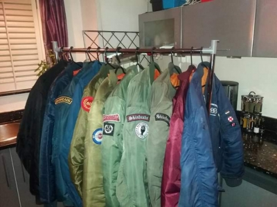 just a few of my many bomber jackets.