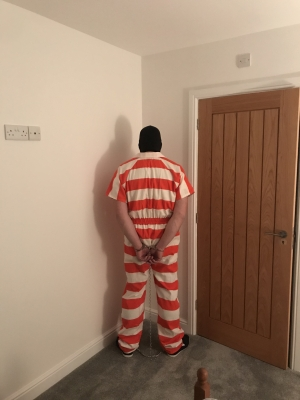 my prisoner toy for tonight  could handle my cock well but needs further training