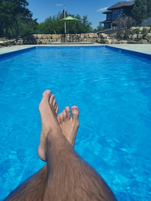 Poolside sadism is so much more satisfying. Approach and fulfill your sole purpose: pleasing me.
