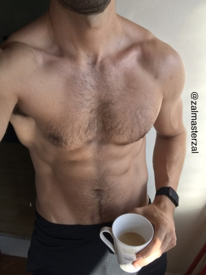 Waking up to the smell of freshly brewed coffee while you wished you had a chance to smell the scent of my body 💪🏼 ☕️