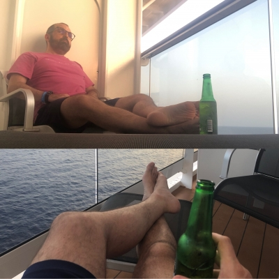 Somewhere between Malta and Barcelona… just missing a smiling grateful cunt at my feet.